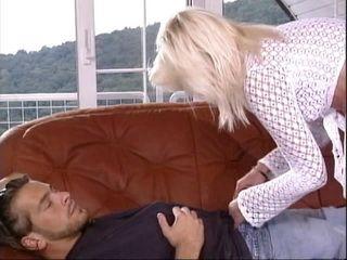 Wild Small Titted Blonde Seduce Sleeping Man Into Hardcore
