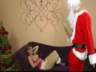 Drunk Santa Brings His Penis As A Gift To Naughty Girl