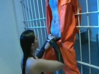 Guy Gets Oral And Sexual Pleasuring With Hands Tied Behind Bars