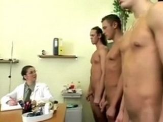 Busty Doctor Brunette Gets Gangbanged During Regular Military Physical Examination