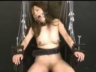 BDSM Action With Japanese Slave With Body Pierce And Chains