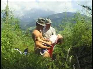 German Threesome Fucking With A Beautiful Landscape