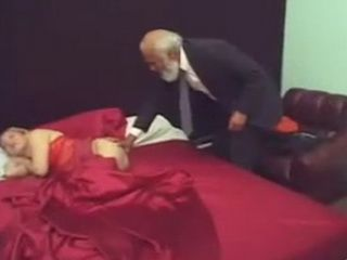 Old Grandpa Couldnt Resist Sleeping Girl Naked Ass