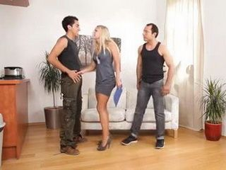 Kinky Blonde Loves Hanging Out With These Two Stallions