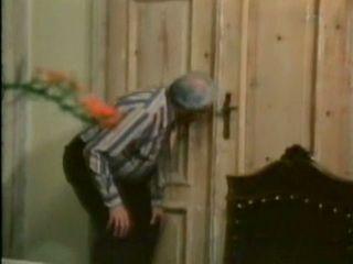 Pervert Grandpa Peeping Through Keyhole While His Son Banging His Wife