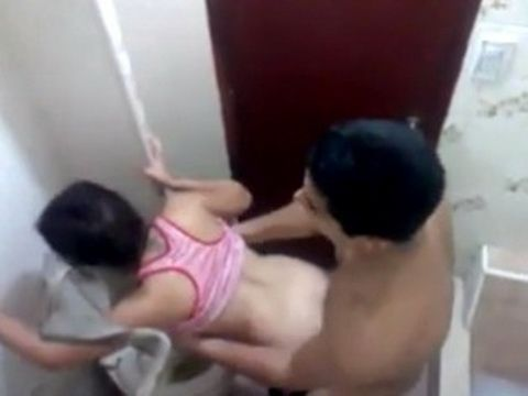 Amateur Couple Quick Time Sex In The Toilette