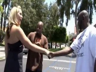Careless Blonde Ends Up With Huge Black Dick In Her Pussy Of Stranger Guy She Met On The Street