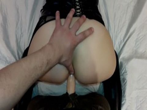 Horny Blonde Fucked Hard Doggy By Strapon