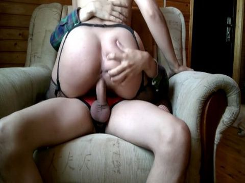 Guy Ripped Booty Girlfriends Pussy On The Armchair