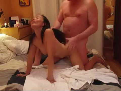 Old Fat Daddy Banging Asian Neighbor Secretly