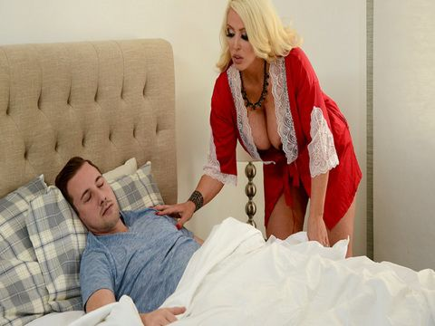 Alluring Milf Mom Wakes Young Boy Gentle Way