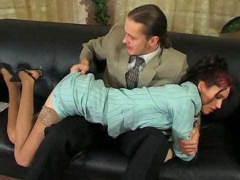 Russian Secretary Gets Anal Punishment