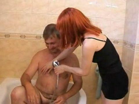 Helping Old Stepdad To Take A Bath Take Immense Circumstances