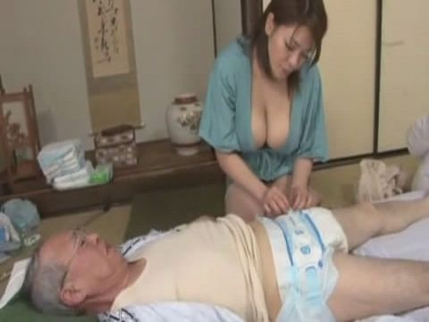 Busty Caregiver Taking Good Care Of Grandpa