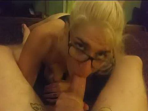 Blonde Hottie Sucks him Dry