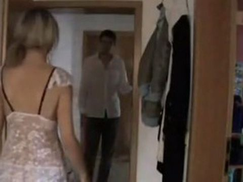 Cute Blonde Gets Nicely Surprised With Her Hot Neighbor On Her Door