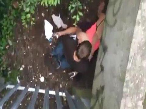 Guy Secretly Taped His Friend Fucking A Slut Under The Bridge