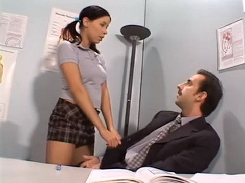 Low Moral Schoolgirl Seduce Teacher Into Fucking In Classroom