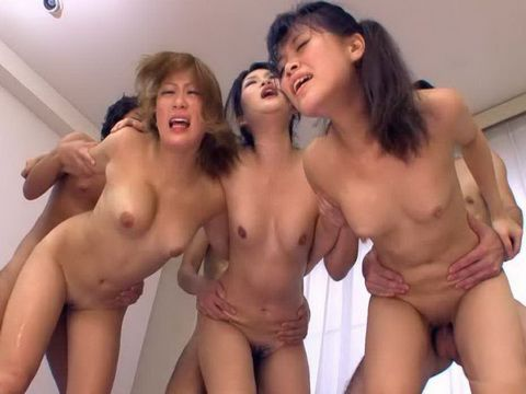 Banging Hard Three Japanese Pussies