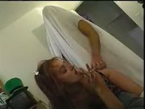 Ghost Loads Schoolgirls Asshole And Pussy