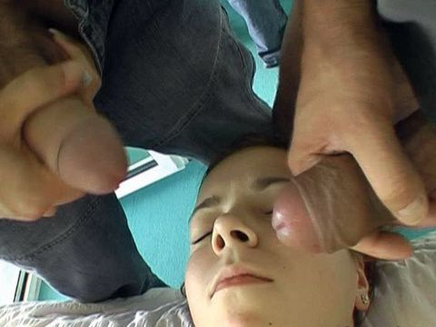 Sedated Sleeping Teen Gets Assaulted And Facialized By 2 Punks