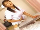 Japanese Horny Nurse Humping Table In Hospital Room