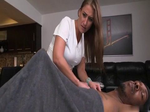 Masseuse Got Distracted By BBC Boner