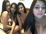 4 Girls Having Fun on Cam