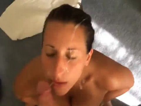Milf takes facial
