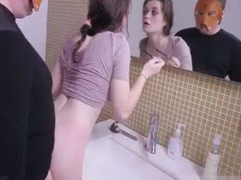 Nineteen Year Old Girl Punished By Masked Man