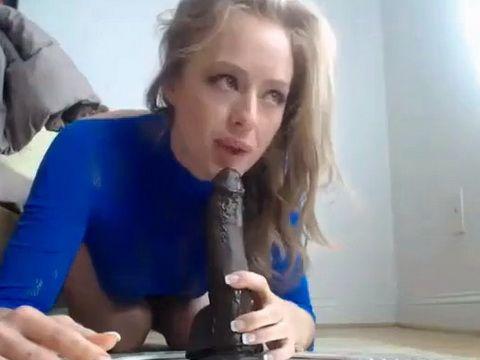 Adorable Girl Shows Her Deepthroat Skills On Webcam