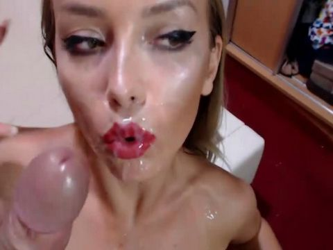 Busty Babe Gets Face and Mouth Fuck and Received a Facial