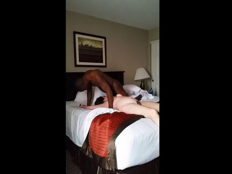 Black Prick Baning Cheating Woman In A Hotel Room