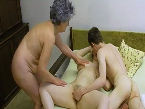 Old Mature Joined Teen Couple in Wild Threesome