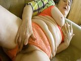 Extra Hairy Granny Seductive Striptease