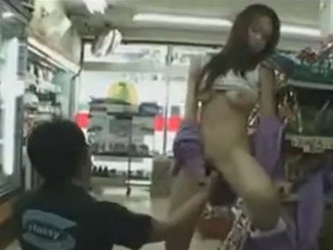 Slutty Jap Gets Fucked At a Convenience Store