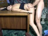 Violent Guy Strangle And Fucked On Desk Unconnscious Brunette