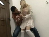 Blonde Schoolgirl Abigaile Johnson get a Molested And Fucked by a Japanese Guy