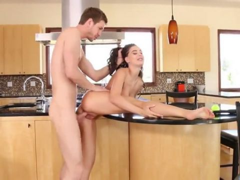 Stud Was Provoked To Fuck Hard Brothers Gf In A Kitchen