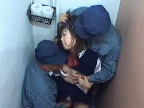 Two Japanese Schoolgirls Groped At The School Toilet