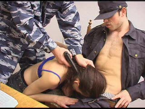 Captured Girl Terribly Humiliated Under Gun Point During Interrogation
