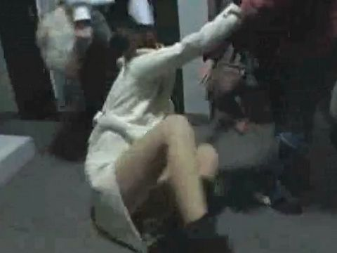 Abusive Girls Assault Drunk Japanese Chick