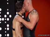 Muscled Bald Stud Gets Ass Banged