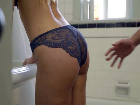 Horny Man Couldnt Resist Brothers Hot MILF Wife In Bathroom