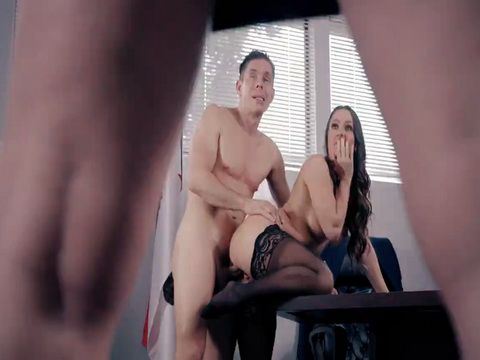 Wife Busted Husband Banging His MILF Secretary On a Desk