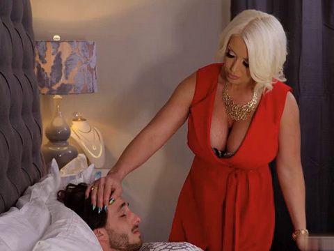 Blonde MILF With Huge Boobs Nursing Sick Husbands Nephew Best Way She Knows