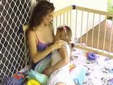 Diaper Adult Baby Girl BreastFeeding Milking Woman