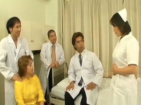 Japanese Nurse Fucked by Doctors and Strapon by Nurse Chief