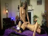 Lesbian Lovers Play Anal Strapon