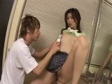Japanese Nanako Yoshioka Seduces Plumber and Dildoing Pussy and Ass